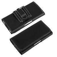 Funda Billetera Cinturón Doble Clips Smartphones Talla XXL - Negro