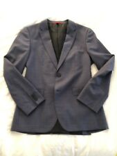 Hugo Boss Red Label 38R C-Jeffery/C-Simmons Blazer Jacket Slate Gray/Blue Check
