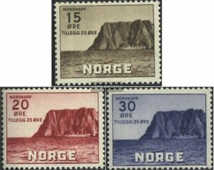 Norway 284-286 (complete issue) with hinge 1943 Tourism