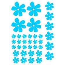 FLOWERS (A) set of 36 CAMPER  CAR WINDOW BUMPER SCOOTER STICKER DECAL