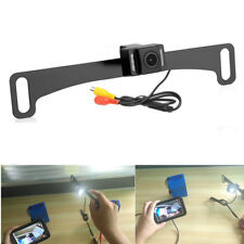 Black Car LED Rear View Reverse Backup Camera License Plate Mount Night Vision