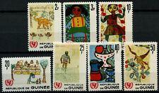 Guinea 1966 SG#567-573 UNiCEF. Childrens Drawings MNH Set #D58296