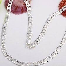 New Fashion 925 Sterling silver Plated 6MM solid men Chain Necklace jewelry