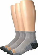 Timberland Gray 3-Pair Poly Ankle Crew Cut Socks Men's Size 9-12 17504