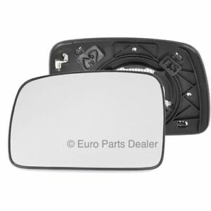 Left passenger side mirror glass with clip for Land Rover Discovery 04-09 heated