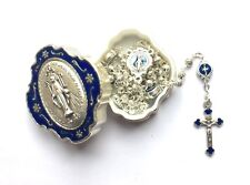 MIRACULOUS MEDAL PRAYER ROSARY IN MATCHING BOX - BEAUTIFUL
