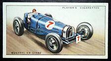 BUGATI 3.3 LITRE  Racing Car    Original 1930's Card # VGC