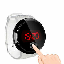 Fashion Men's Watch LED Touch Screen Silicone Band Waterproof Wrist Watch White