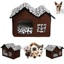 Indoor Pet Dog House Cage Bed Kennel Puppy Cat Cabin Cushion Mat Pad