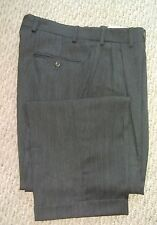 Brennan V. Amerigo Mens Pleated Dress Pants 32 x 30 Dark Gray Wool Exc Cond