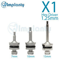Hex Driver 1.25mm Dental Abutment Fit AB Alpha Bio Zimmer Adin Internal Hex