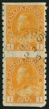 CANADA - 1922 1c 'CHROME YELLOW' Imperf Die I FU SG256a Cv £180 [B4531]