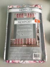 New Newport Medallion 63-Inch Grommet Window Curtain Panel in Blush E9