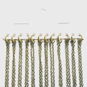 Antique Bronze Plain Necklace Lobster Clasp Chains Multi Length Bulk Quantity UK