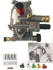 2600 Psi Pressure Washer Pump 78 Shaft Honda Gc160 Horizontal Plus Tips