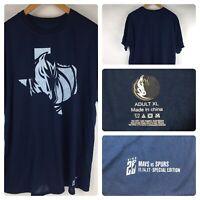 Dallas Mavericks Dirk Nowitzki Special Edition Navy Blue T Shirt Size XL