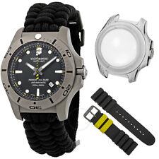Victorinox 241812 45mm Titanium Case Black Textile Strap  Dive Watch