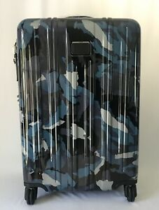 Tumi V3 Short Trip Expandable Packing Case Spinner Luggage Blue Camo 228264 NEW