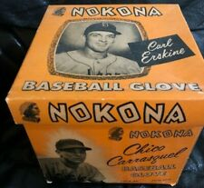 1955 Carl Erskine Chico Carrasquel Nokona Baseball Glove Picture Box Only + Ad