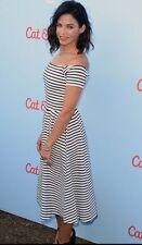 H&M Casual Striped Dresses Midi for Women