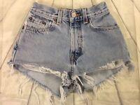 "Levi's High Waist Shorts ""Mom Jeans"" Light-Black Wash SZ 00 2 5 8 10 12 14 16"