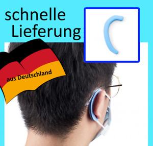 1 Paar Silikon Ohrenschoner schwarz passend für Mundschutz und Behelfsmaske