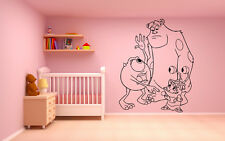 Vinyl Wall Decal Sticker Decor Nursery Monster Inc Sulley Mike Wazowski Boo O241