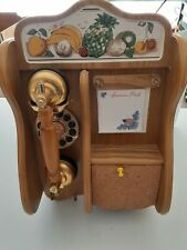 Vintage/Modern Retro Wall Hung Corded Touch Dial Phone