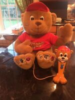 KARAOKE KID TEDDY BEAR PRESS HIS PATCHES & HE WILL SING ALONG WITH YOU