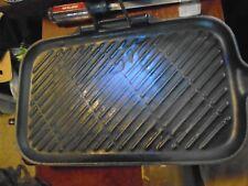 Le Creuset France Blue Enameled Cast Iron Grill  Pan