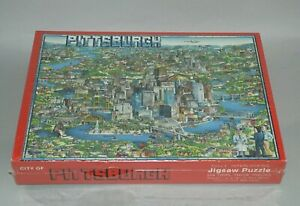 1988 CITY OF PITTSBURGH 504 PIECE PUZZLE MINT SEALED UNOPENED STEELERS PIRATES
