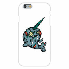 Zombie Narwhal Funny Animal Zombie Cartoon Fits iPhone 6+ Snap On Case Cover New