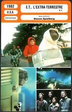 E.T. L'EXTRA-TERRESTRE - Spielberg(Fiche Cinéma) 1982  E.T.the Extra-Terrestrial