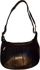 New woman's Genuine Leather Black handbag shoulder handbag day bag Pocketbook bn