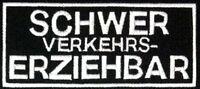 Schwer Verkehrs- Erziehbar Patch - Aufnäher Biker Kutte Streetfighter, Abzeichen