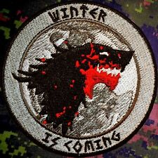 WINTER IS COMING WOLF PATCH ~ GAME OF THRONES ~ HOUSE STARK ~ BLOOD, FIRE & ICE