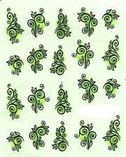 One Stroke Sticker,Sonstiges,Tribel,Grün,Tattoo, Aufkleber  Nr.1321