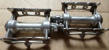 Vintage Campagnolo Record Pista/Track Pedal Set with toe clips and straps