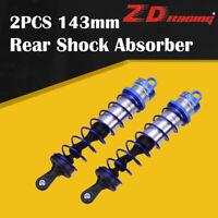 2pcs ZD Racing 143mm Rear Shock Absorber Blue Damper Suspension for 1/8 HSP Car