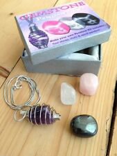 CRYSTAL NECKLACE SET GEMSTONE JEWELLERY REIKI NEW AGE GIFT WICCA PAGAN HEALING