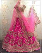 Actual Pics- Bollywood Indian PAkistani Heavy Bridal Lehenga Lehnga Saree
