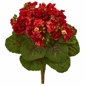 """Nearly Natural 12"""" Violet Bush Artificial Flower Red Set Of 4 Realistic Decor"""