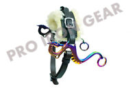 RAINBOW DRAGON Hackamore Bitless Horse Bit English Western  Leather (BLACK)