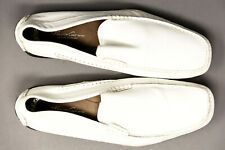 Kenneth Cole Leather Driving Loafer Slip on Moc Toe Mens Sz 10 M White New York