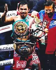 P079 Manny Pacquiao Signed 8x10 Photo (Pacquiao COA)