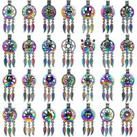 RAINBOW COLORFUL Dream Catcher Beads Cage Charms Locket Pendant
