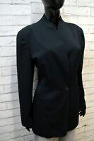 TRUSSARDI Giacca Lunga Donna Taglia XL Cappotto Lana Blazer Jacket Women Chimono