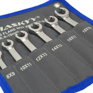 HASKYY® Bremsleitungsschlüssel offener Ringschlüssel Leitungsschlüssel Bremsen