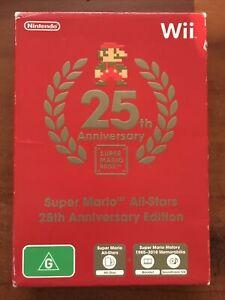 Wii Nintendo Game - 25th ANNIVERSARY SUPER MARIO BROS -  Complete