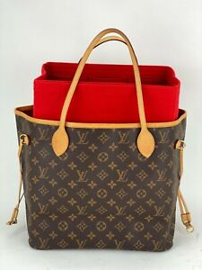 Louis Vuitton Neverfull MM Monogram Canvas W/added insert Tote Hand Bag  A859
